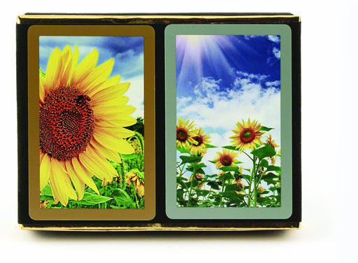 Congress Sunflowers Standard Index Bridge Playing Cards - 2 Deck Set