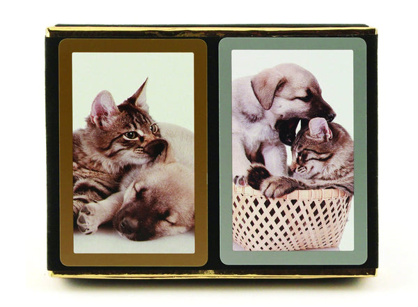 Congress Cat & Dog Jumbo Index Bridge Playing Cards - 2 Deck Set