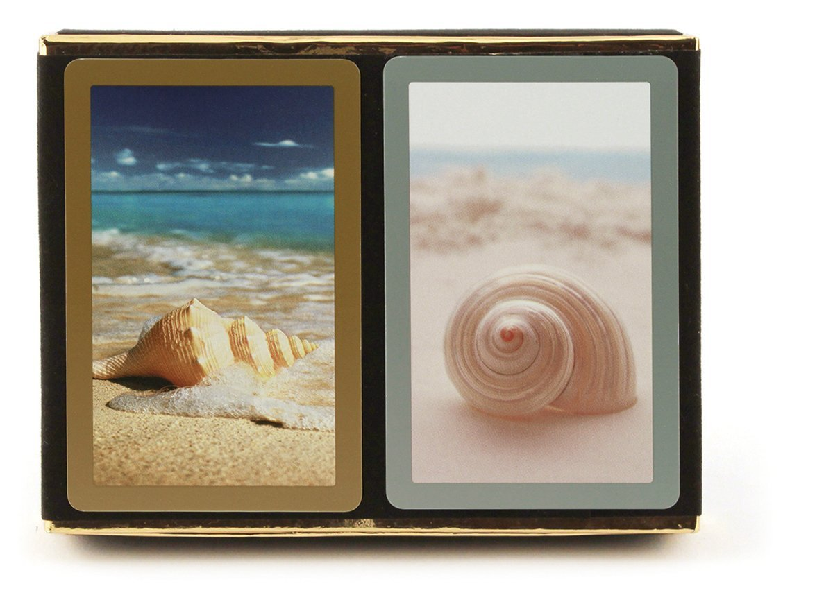 Congress Seashells Jumbo Index Bridge Playing Cards - 2 Deck Set