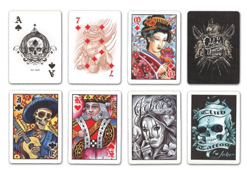 Bicycle Club Tattoo Playing Cards - 1 Sealed Deck