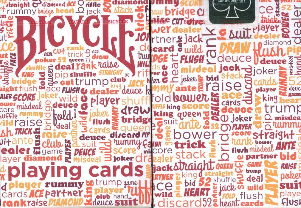 Bicycle Table Talk Collectible Playful Playing Cards - 1 Sealed Red Deck