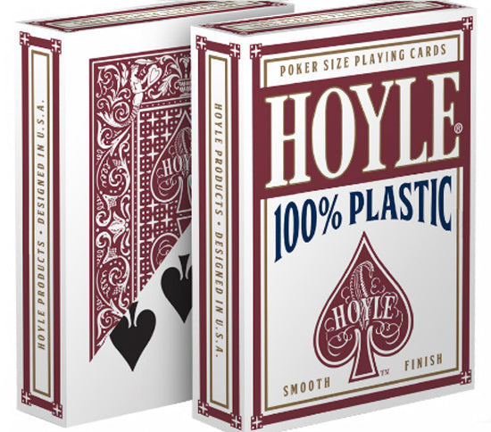 Hoyle 100% Plastic Playing Cards, Standard Index - 1 Red Deck