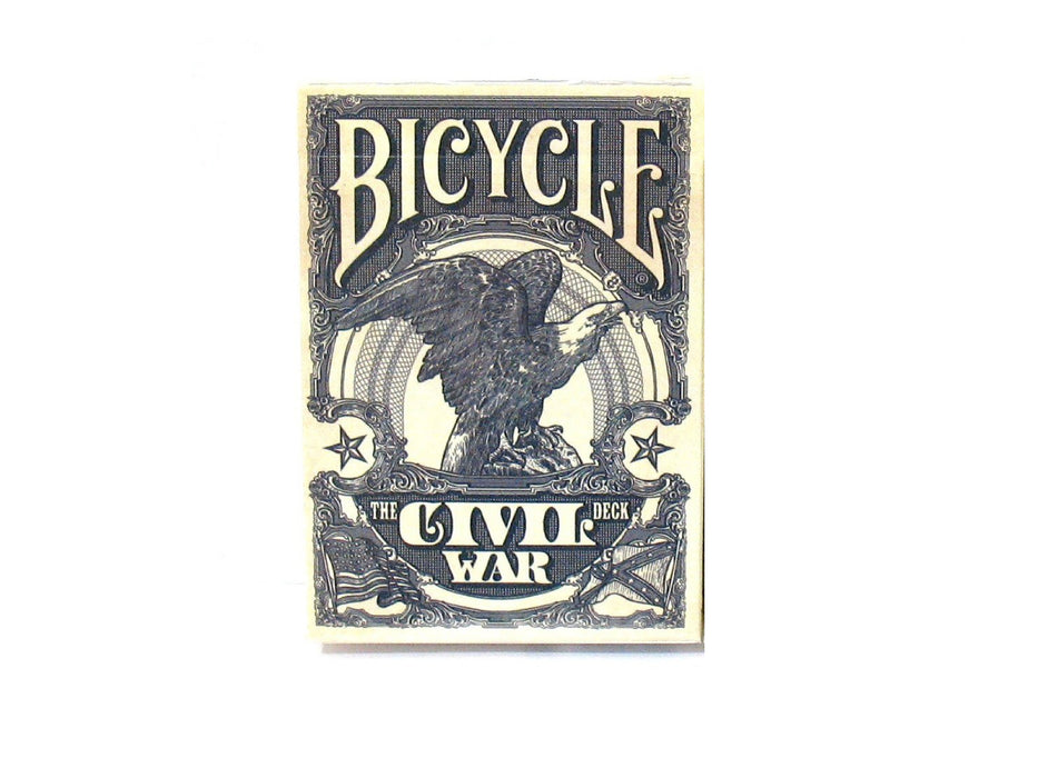 Bicycle Civil War Playing Cards with The Confederacy and Union Icons-1 Blue Deck