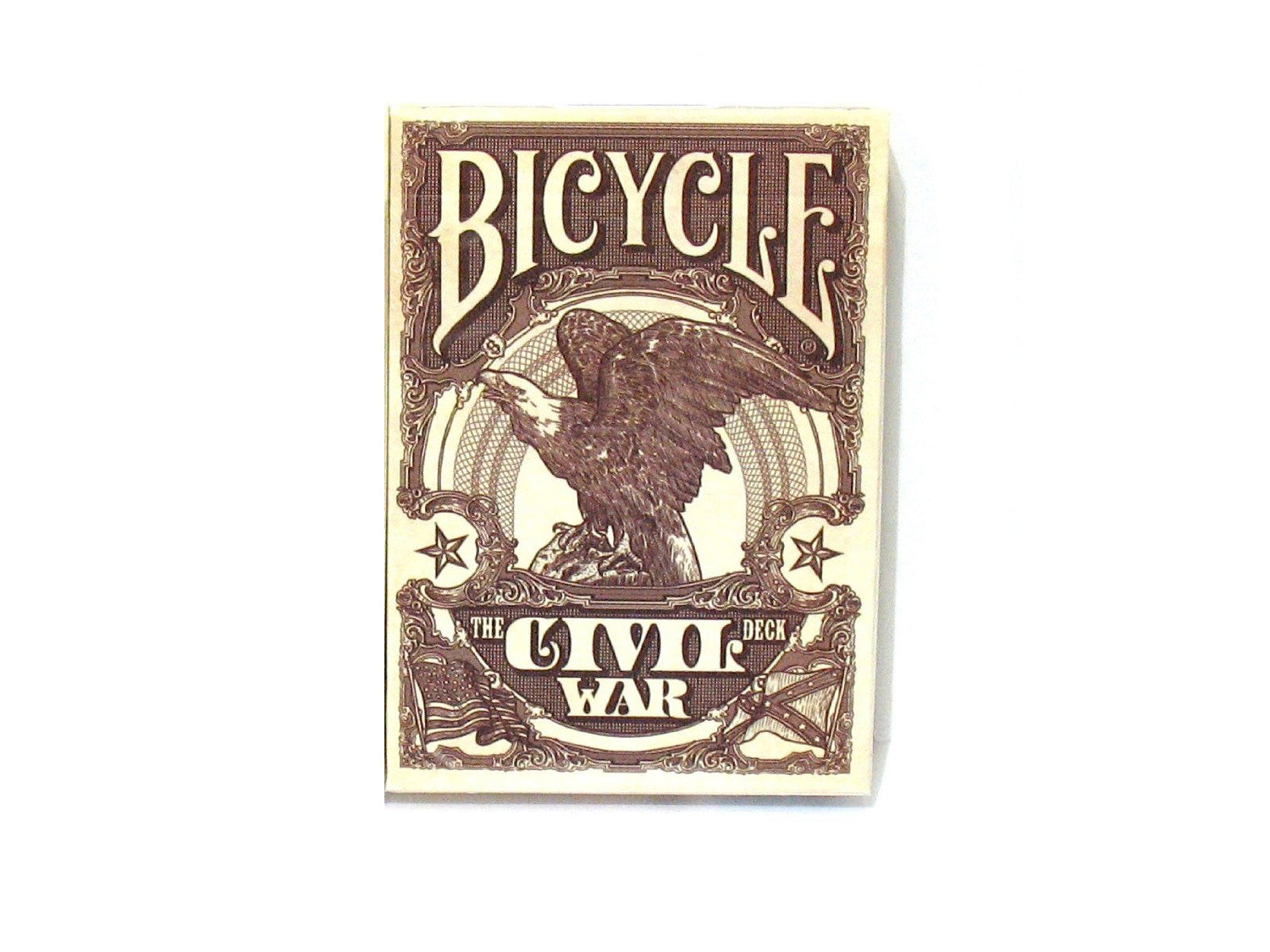 Bicycle Civil War Playing Cards with The Confederacy and Union Icons- 1 Red Deck