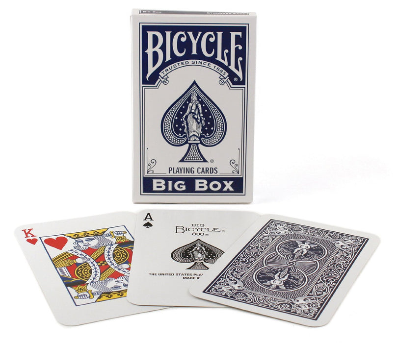 "Bicycle Big Box Blue Playing Cards - 4.5"" Wide x 7"" Tall Jumbo Deck"