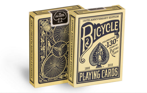 Bicycle 130th Anniversary Blue Poker Playing Cards - 1 Sealed Blue Deck