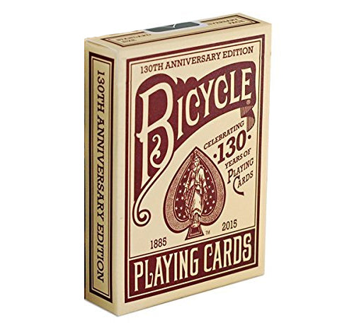 Bicycle 130th Anniversary Red Poker Playing Cards - 1 Sealed Red Deck