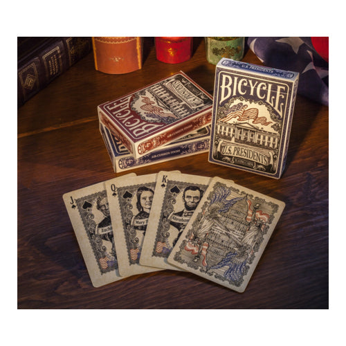 Bicycle US Presidents Playing Cards with 44 Presidents 4 First Ladies - 1 Deck