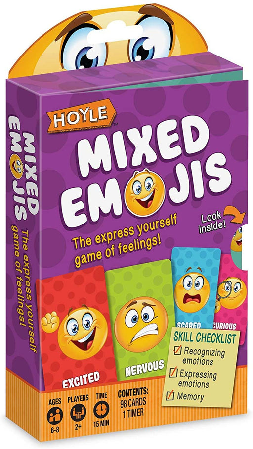 Hoyle Mixed Emojis - Card Game for Ages 6-8