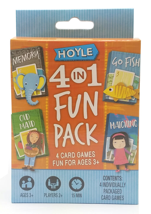 Hoyle 4-in-1 Fun Pack Classic Card Games - Memory, Old Maid, Go Fish, Matching