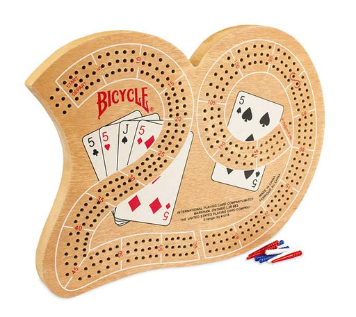 Bicycle 29 Cribbage Board with Pegs