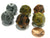 Set of 6 D12 18mm Olympic Pearlized Dice - 2 Each of Gold Silver and Bronze