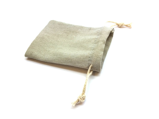 "3""x4"" Quality Cotton Drawstring Gaming Pouch Dice Bag - Gray"