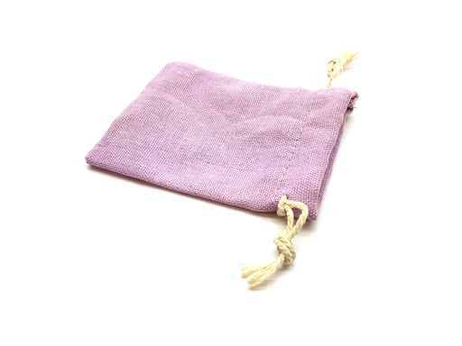 "3""x4"" Quality Cotton Drawstring Gaming Pouch Dice Bag - Purple"