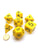 Jumbo Polyhedral 7-Die Koplow Games Dice Set 23mm-28mm-Yellow with Black Numbers