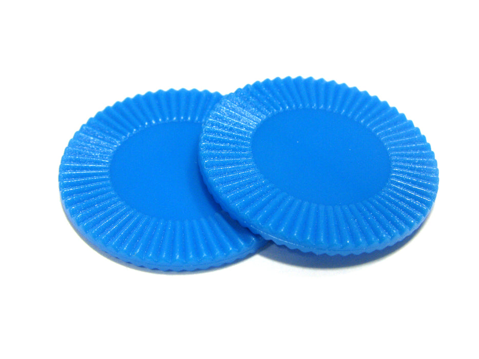 "Set of 50 7/8"" Easy Stacking Plastic Mini Playing Poker Chips - Blue"