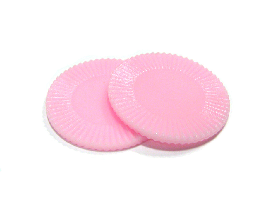 "Set of 50 7/8"" Easy Stacking Plastic Mini Playing Poker Chips - Pink"