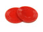 "Set of 50 7/8"" Easy Stacking Plastic Mini Playing Poker Chips - Red"
