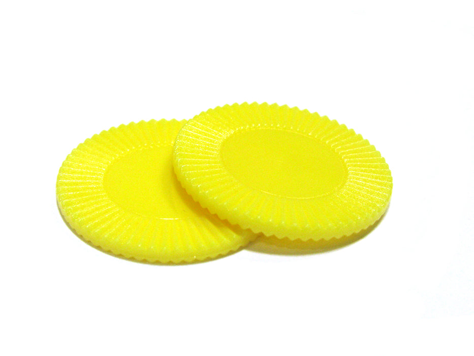 "Set of 50 7/8"" Easy Stacking Plastic Mini Playing Poker Chips - Yellow"