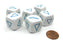 Pack of 6 20mm Math Educational Triangle Shapes Dice - White with Blue