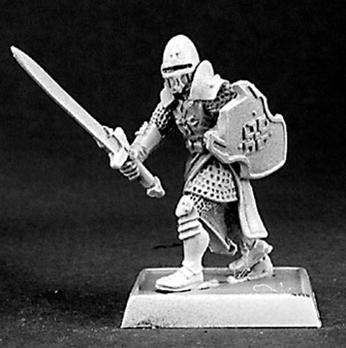 Reaper Miniatures Templar Knight Warrior #14377 Crusaders Unpainted RPG D&D Mini