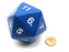 55mm Jumbo 20-Sided D20 Countdown Dice - Opaque Blue with White Numbers