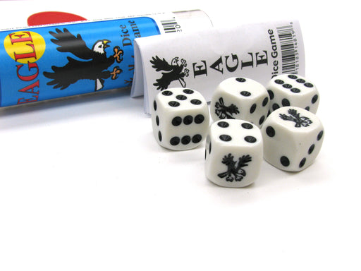 Eagle Dice Game 5 Dice Set with Travel Tube and Instructions