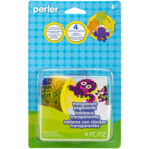 Perler Pegboards 4 in package - Assorted Clear Gem Perler #80-26050 Craft Art
