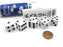 Kaput Dice Game Set with 5 White Dice, Travel Tube and Gaming Instructions