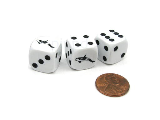 Beached Dice Game with 3 Whale Dice with Gaming Instructions