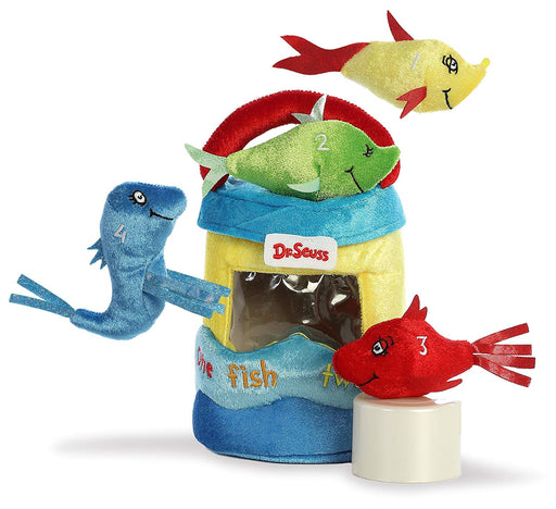 "8"" Dr. Seuss Fish Playset - One Fish Two Fish Red Fish Blue Fish"