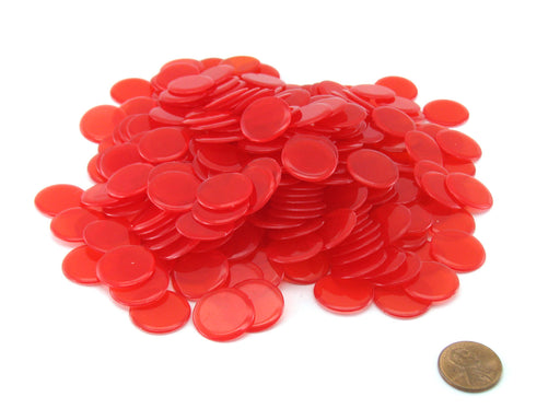 "Pack of 250 Transparent Red Extra Thick 3/4"" 19mm Sorting Chips"