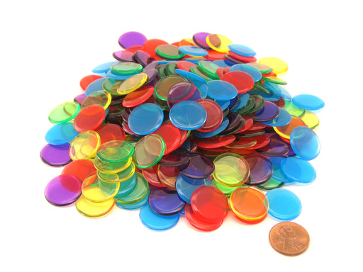 "Pack of 250 5 Assorted Colors Extra Thick 3/4"" 19mm Sorting Chips"