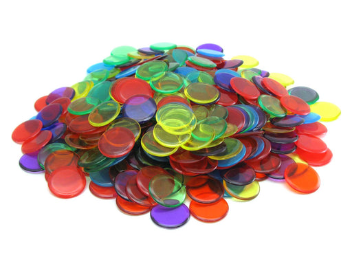 "Pack of 300 6 Assorted Colors Extra Thick 3/4"" 19mm Sorting Chips"