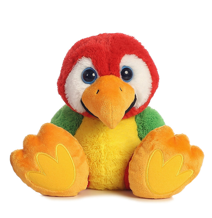 "Chatter Taddle Toes 8"" Aurora Plush Parrot"