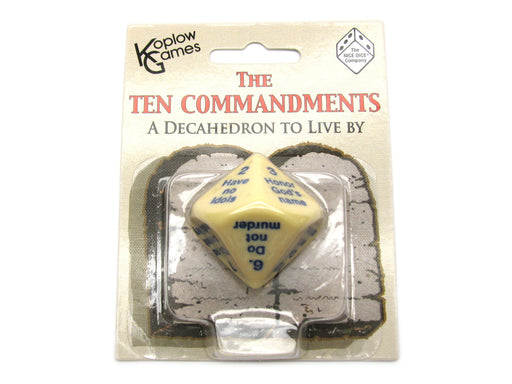 The 10 Commandments D10 10 Sided Christian Religious Dice