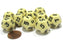 Set of 10 D12 12-Sided 18mm Opaque RPG Dice - Ivory with Black Numbers