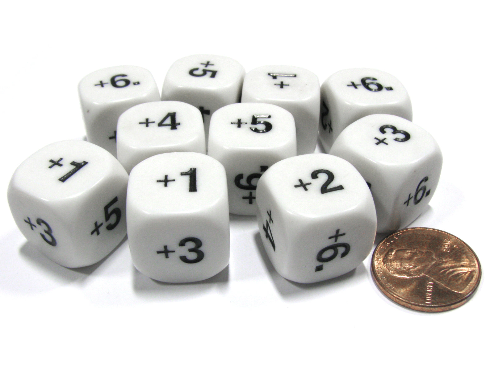 Set of 10 D6 16mm Educational Classroom Addition Plus Basic Math Dice