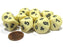 Set of 10 D10 10-Sided 16mm Opaque Dice - Ivory with Black Numbers