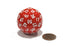 Sixty-Sided D60 35mm Large Gaming Dice - Red with White Numbers