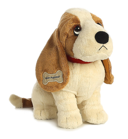 "10"" Aurora Hush Puppies Small Plush Dog - 10"" Classic Basset Hound"