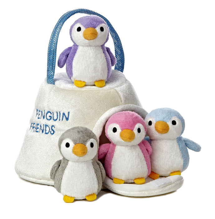 "Aurora World 10"" Soft Plush - My Penguin Friends Carrier with Sound"