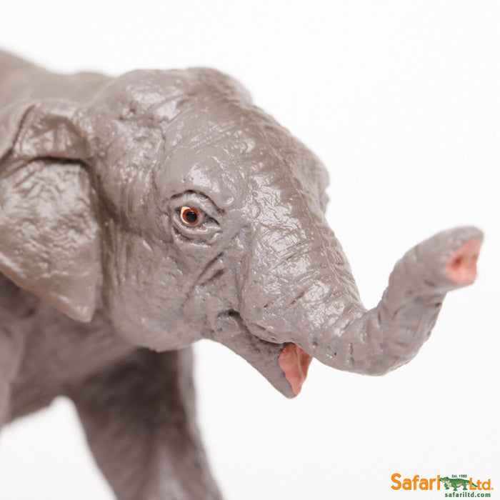 Wild Safari Wildlife Educational Painted Miniature Replica - Asian Elephant Baby