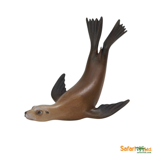 Wild Safari Sea Life Educational Painted Miniature Replica - California Sea Lion
