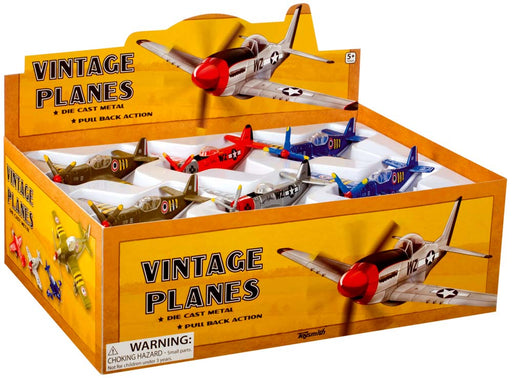 Die-Cast Metal Vintage Planes - Choose Your Color