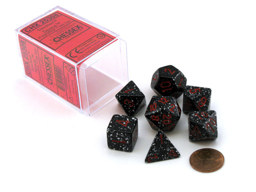 Polyhedral 7-Die Chessex Dice Set - Speckled Space