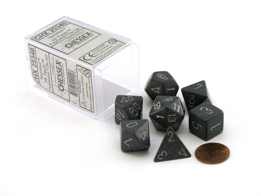Polyhedral 7-Die Chessex Dice Set - Speckled Hi-Tech