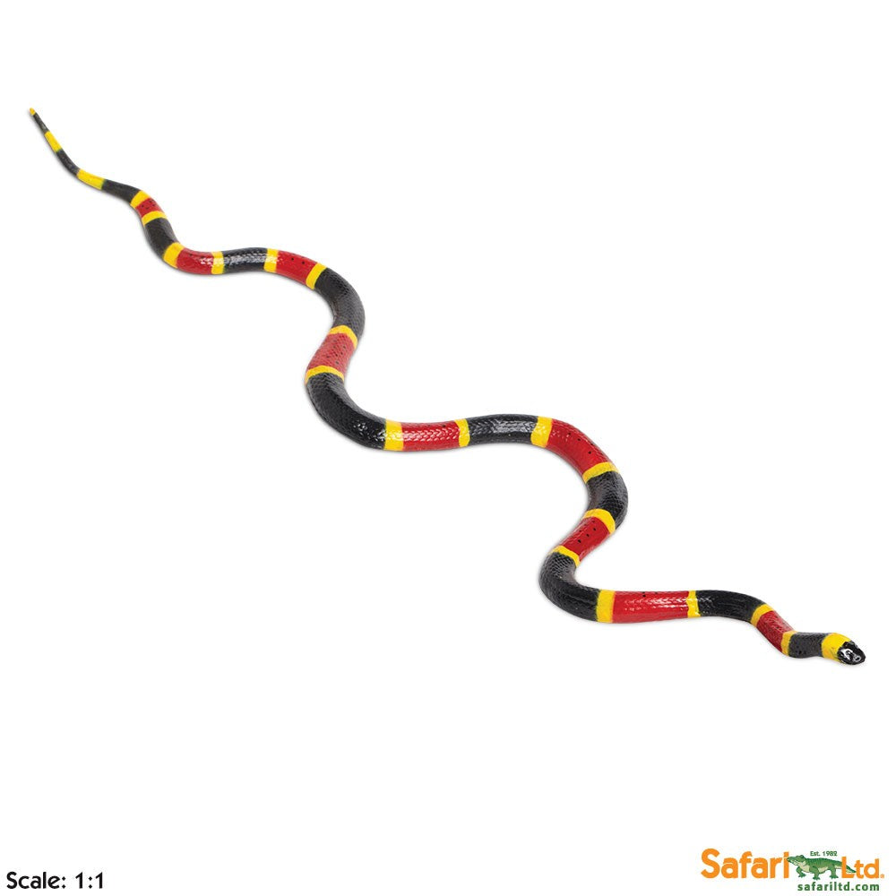 "Educational Replica Incredible Creatures 23"" Long Figure - Coral Snake"