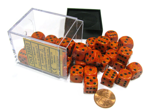 Speckled 12mm D6 Chessex Dice Block (36 Dice) - Fire