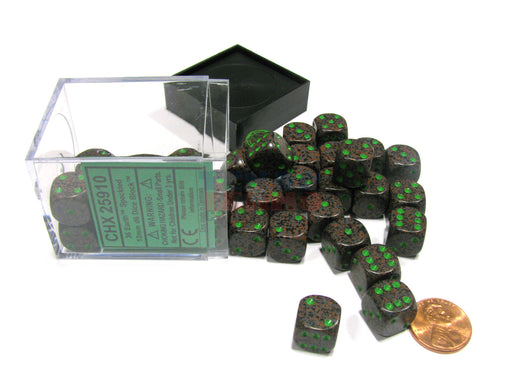 Speckled 12mm D6 Chessex Dice Block (36 Dice) - Earth